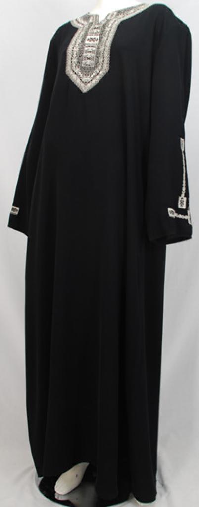 Al Karam Najibah Embroidered Abaya  ab478