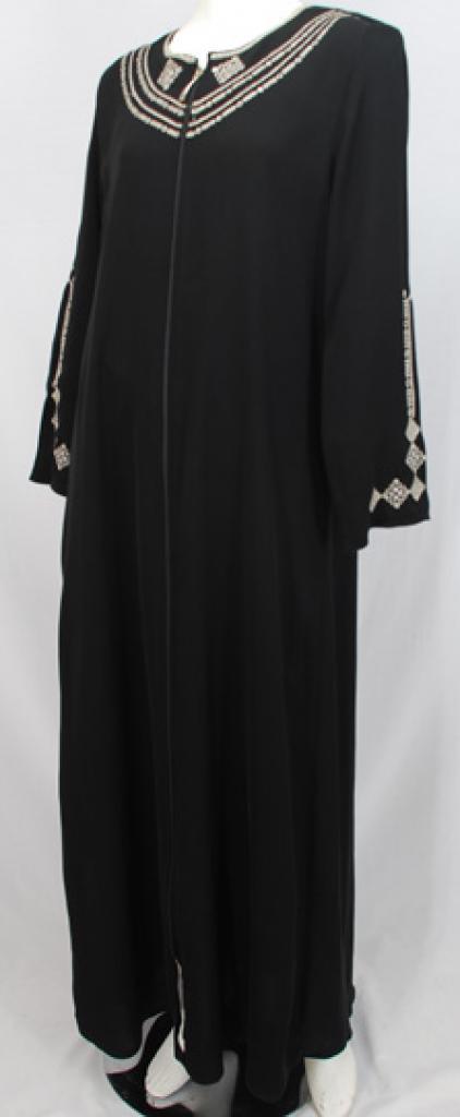 Al Karam Samar Embroidered Abaya  ab479