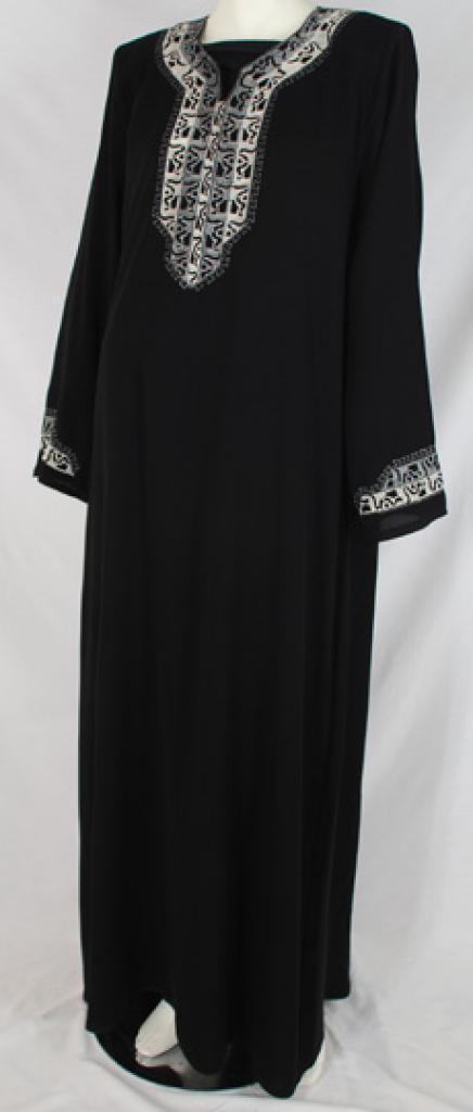 Al Karam Tahirah Embroidered Abaya  ab483