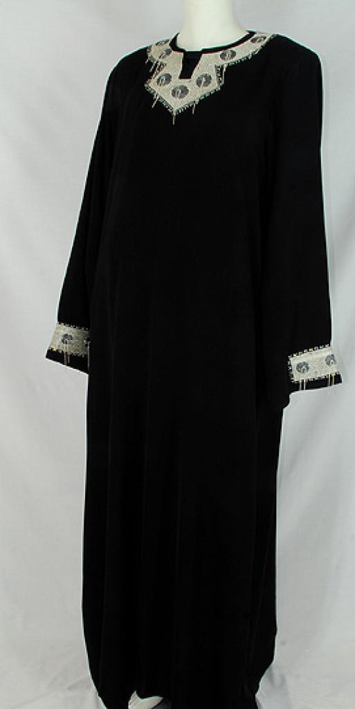 Al Karam Madihah Embroidered Abaya  ab489