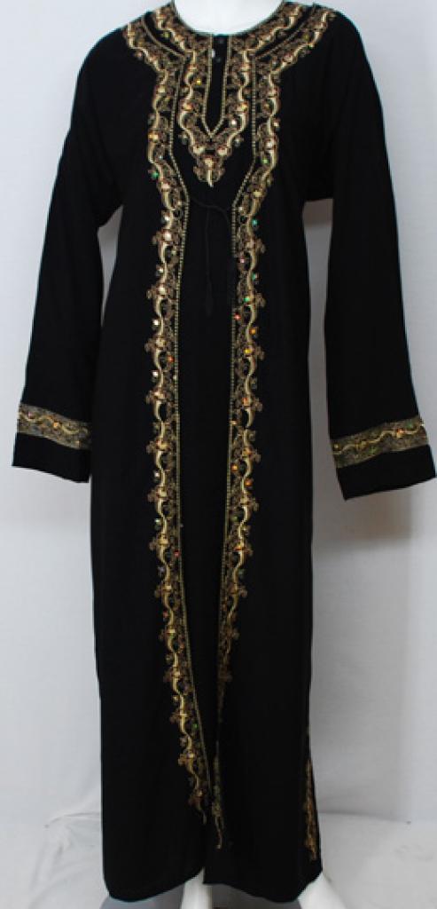 Rabiah Embroidered Georgette Abaya  ab493