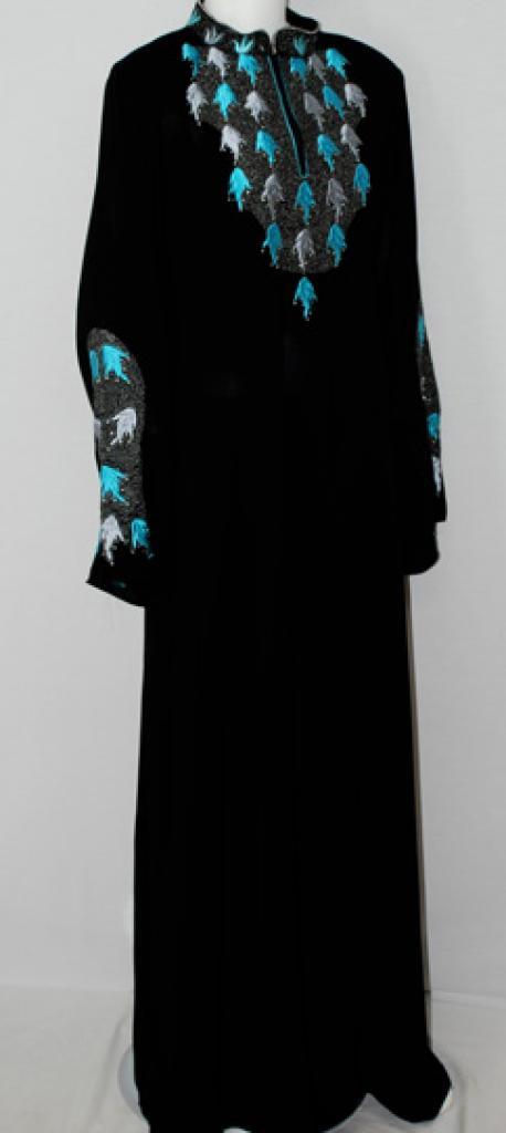 Al Karam Hasna Embroidered Abaya ab494