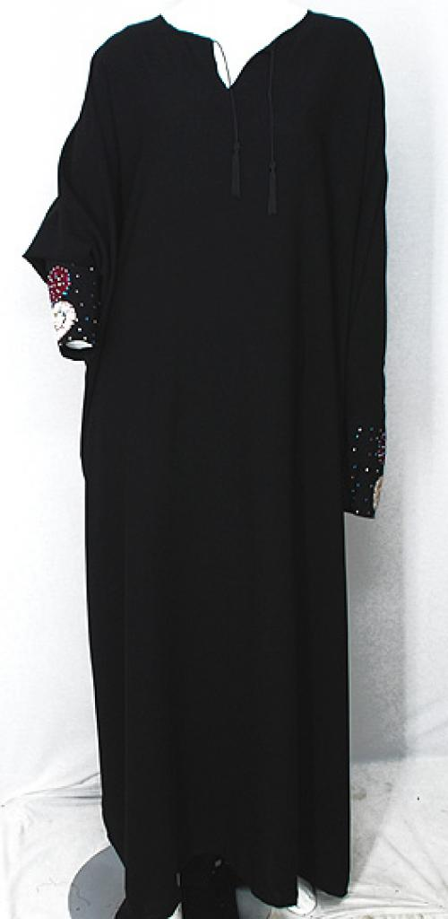 Free Size Embroidered Pull-over Abaya ab496