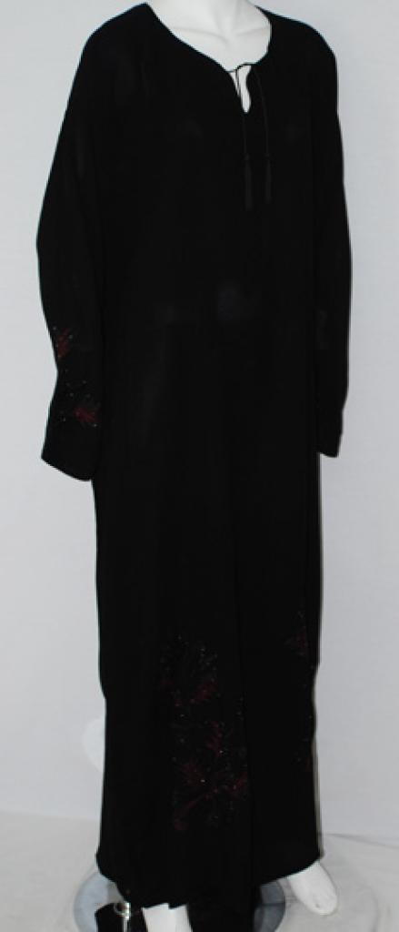 Embroidered Khalije Pull Over Abaya ab508