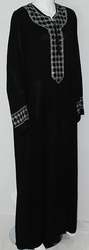 Al Karam Diamond Pattern Embroidered Abaya ab511