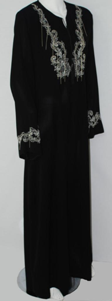 Al Karam Diamond Floral Embroidered Abaya ab512
