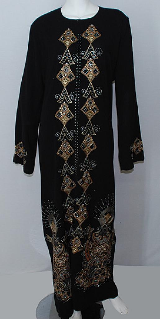 Traditional Embroidered Egyptian Abaya  ab514
