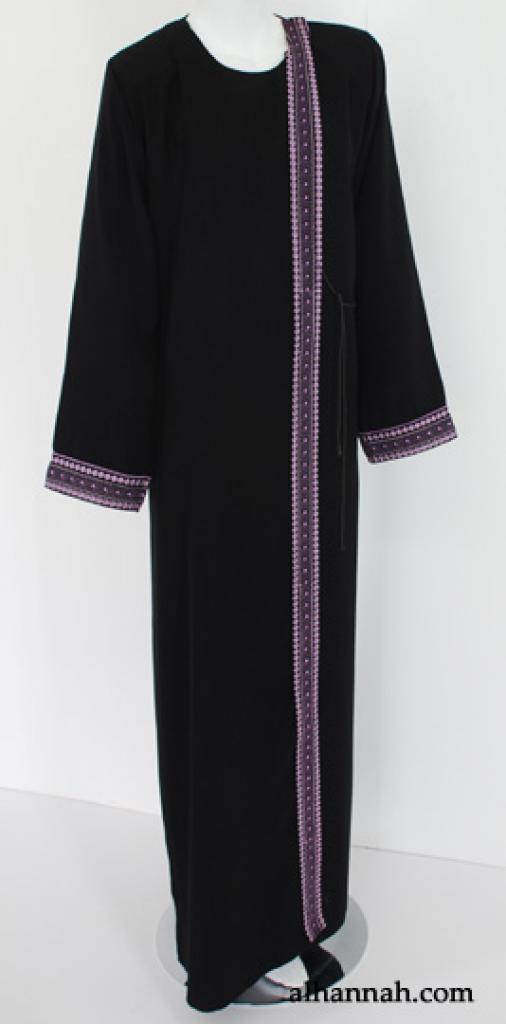 Al Karam Shoulder-Close Embroidered Abaya ab520