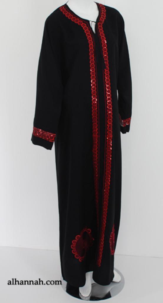 Traditional Emirati Embroidered Abaya ab522