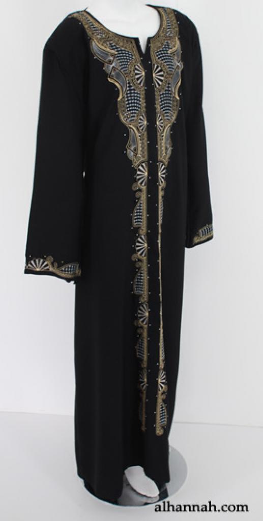 Traditional Embroidered Egyptian Abaya  ab524