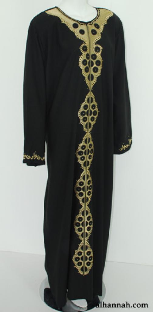 Traditional Embroidered Egyptian Abaya  ab525