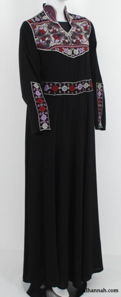 Al Karam Floral Garden Embroidered Pull Over Abaya ab535
