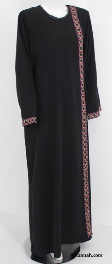 Al Karam Shoulder Close Khaleji-Style Embroidered Abaya ab540