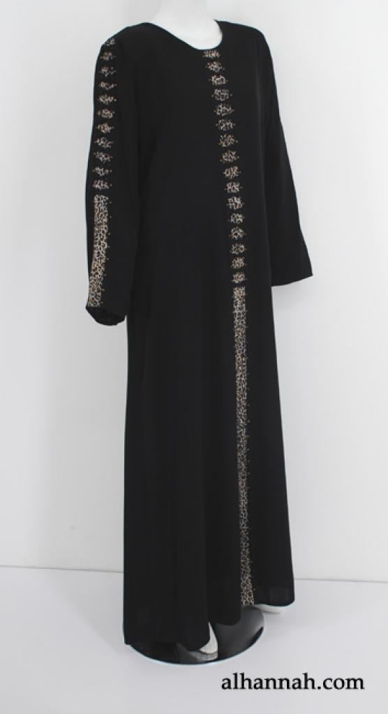 Contemporary Print Al Karam Pull Over Abaya ab541