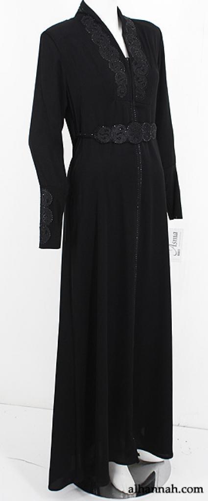 Premium Embroidered and Beaded Abaya ab561