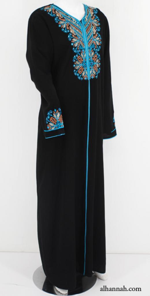 Embroidered Womens Jordanian Abaya ab582