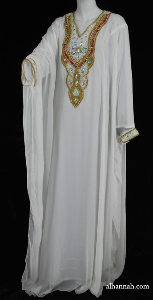 Premium Chiffon Embroidered Multi-Layer Abaya ab590