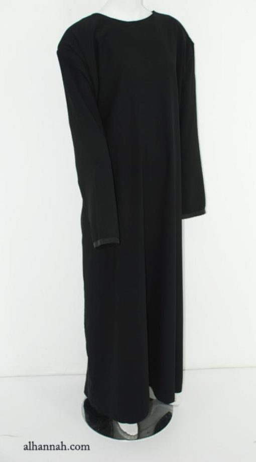 Deluxe Egyptian Plus-Size Abaya with Satin Applique ab591