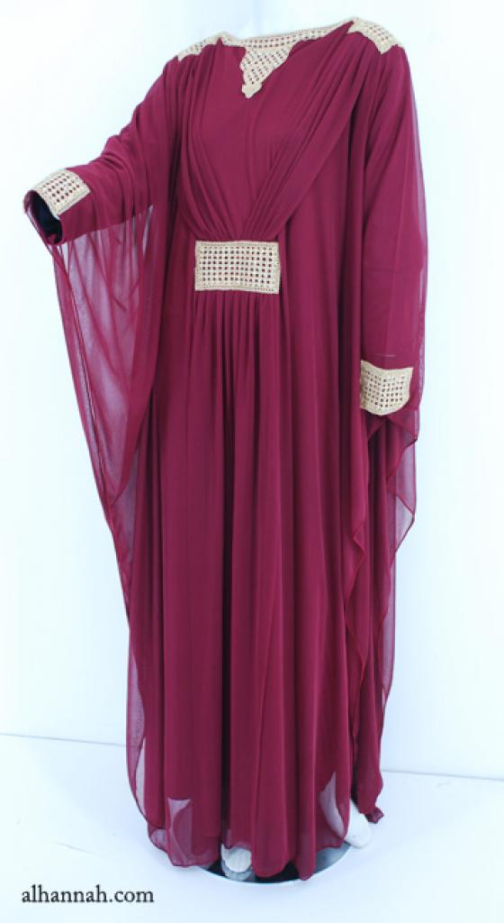 Premium Chiffon Embroidered Multi-Layer Abaya ab594