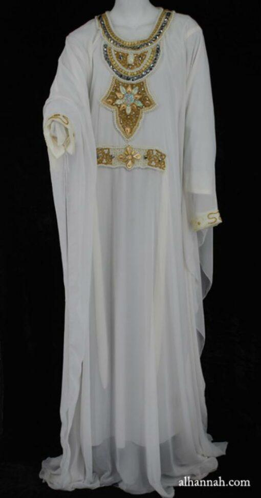 Premium Chiffon Embroidered Multi-Layer Abaya ab598