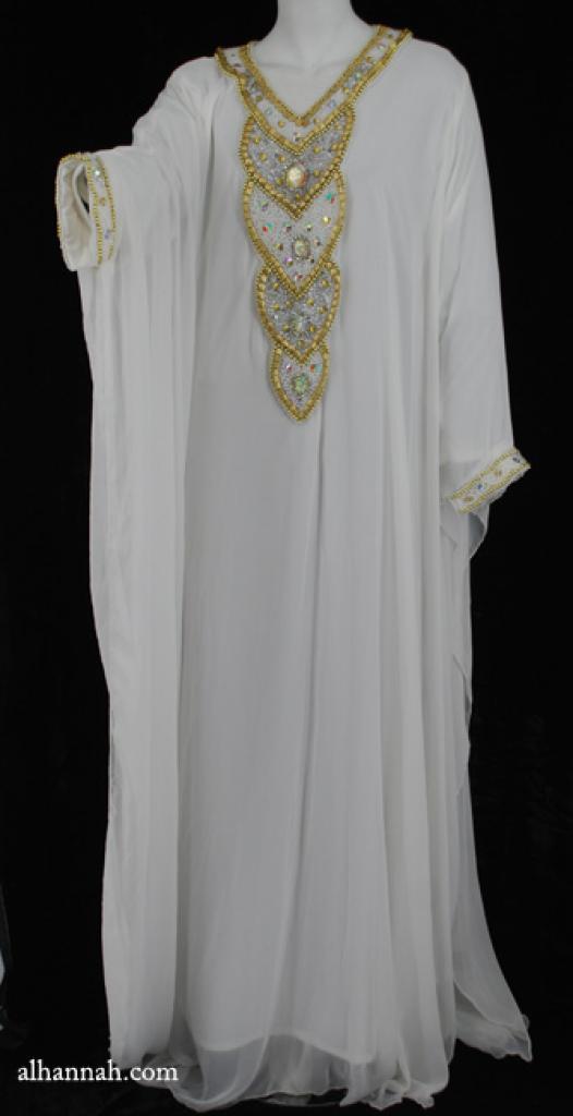 Premium Chiffon Embroidered Multi-Layer Abaya ab599