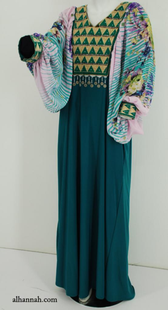 Premium Chiffon Embroidered Multi-Layer Abaya ab600
