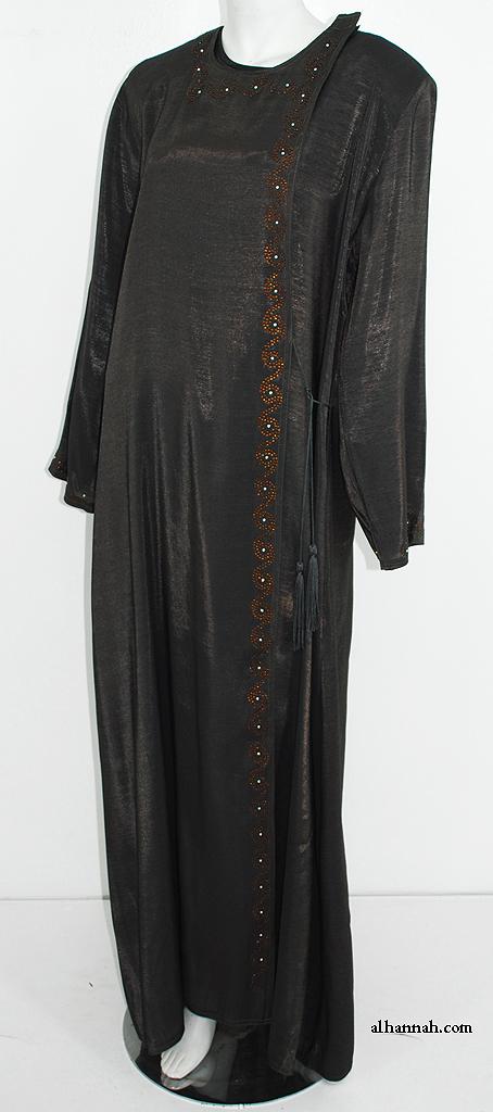 Classic Omani Shoulder Close Abaya ab613