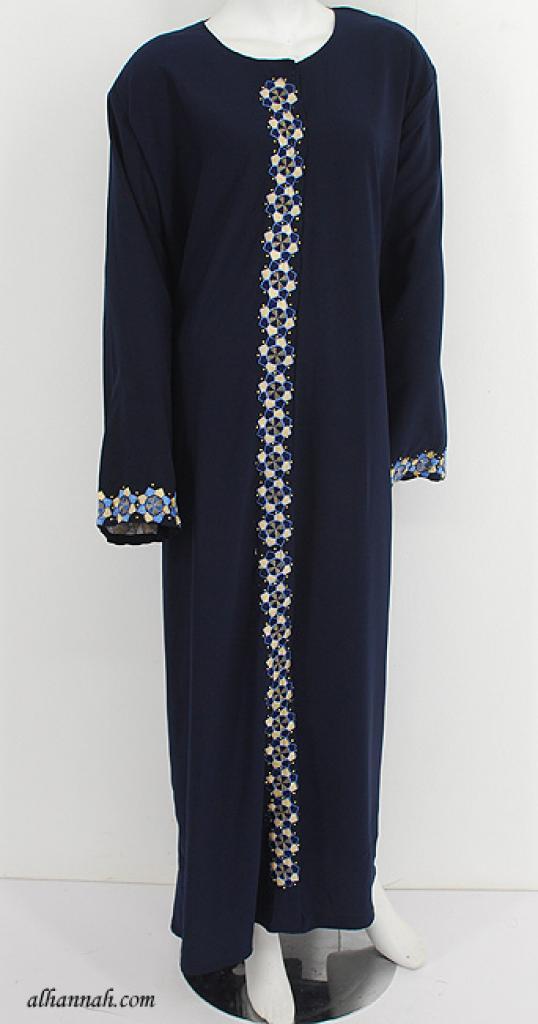 Classic Shoulder Close Abaya ab614