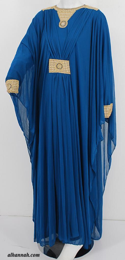 Premium Chiffon Embroidered Multi-Layer Abaya ab617
