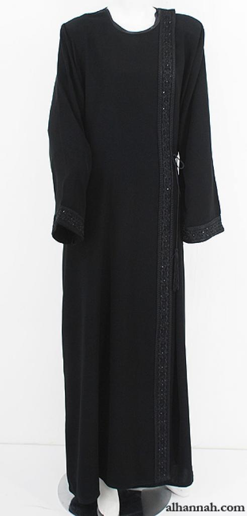Classic Omani Shoulder Close Abaya ab620