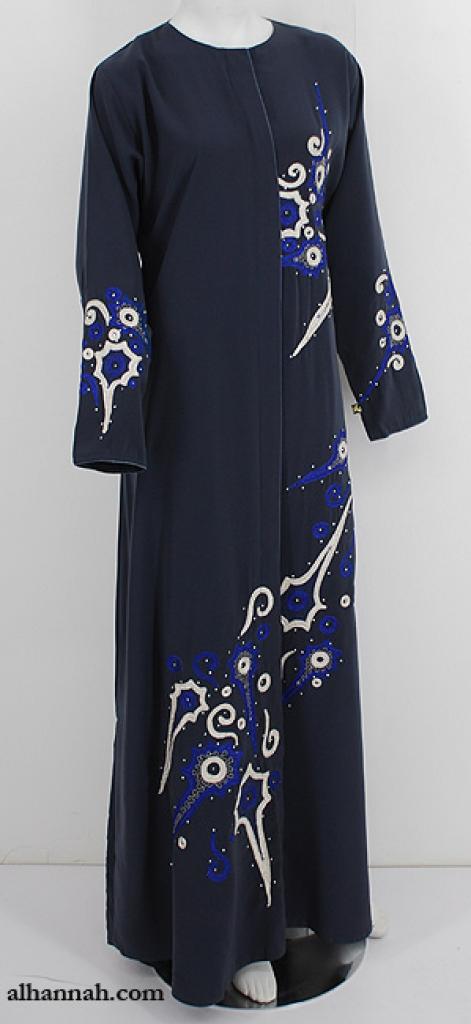 Classic Embroidered Abaya ab631