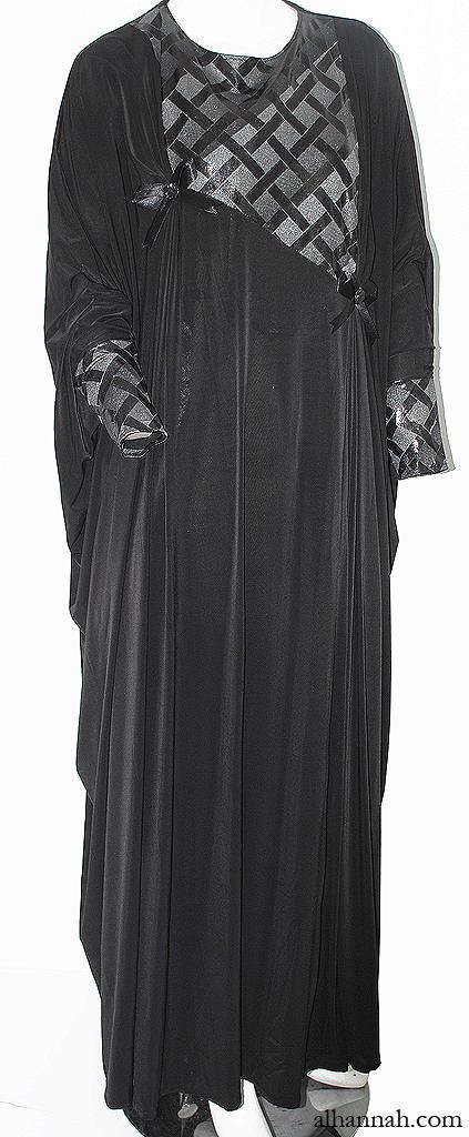 Khilije Style Deema Abaya with Front Pleats ab639