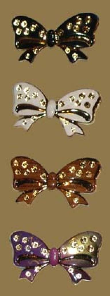 Premium Set of Colored Bow Hijab Pins.   ac137
