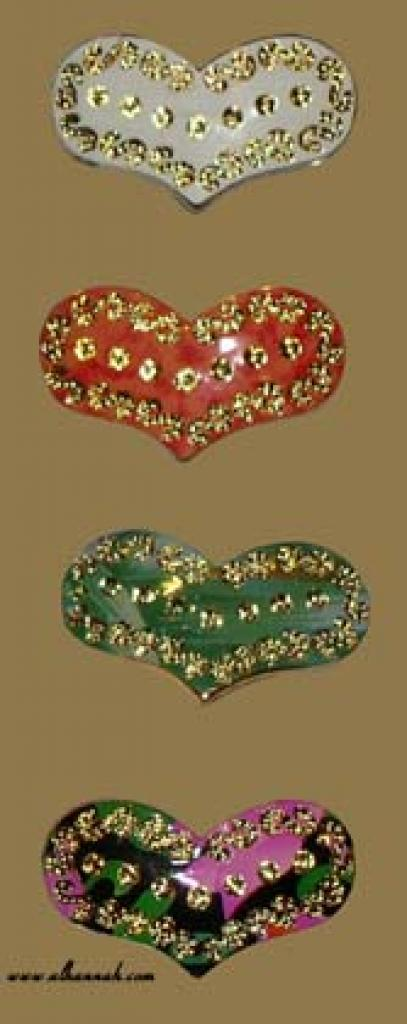 Premium Set of Colored Heart Hijab Pins ac139