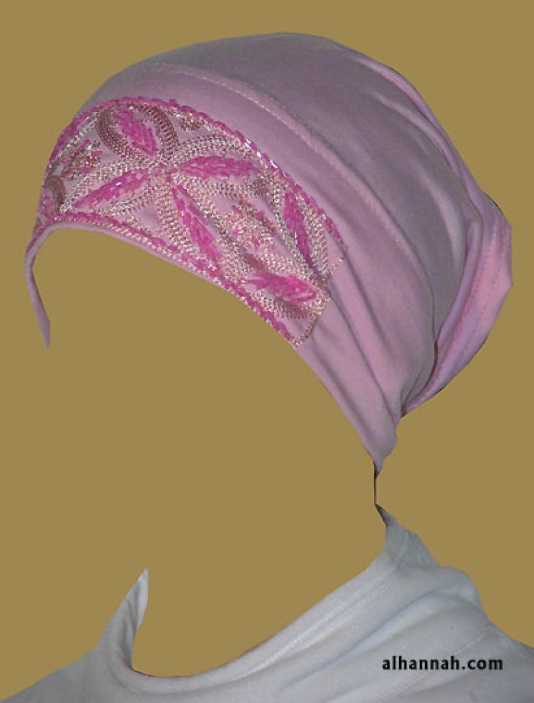 Hand Beaded Al Amirah style underscarf ac149