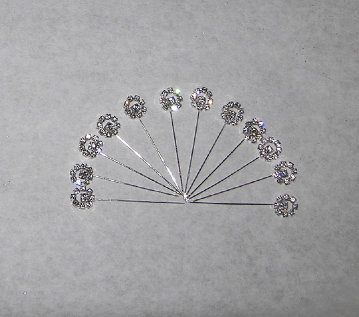 Rhinestone Stick Hijab Pins  ac204