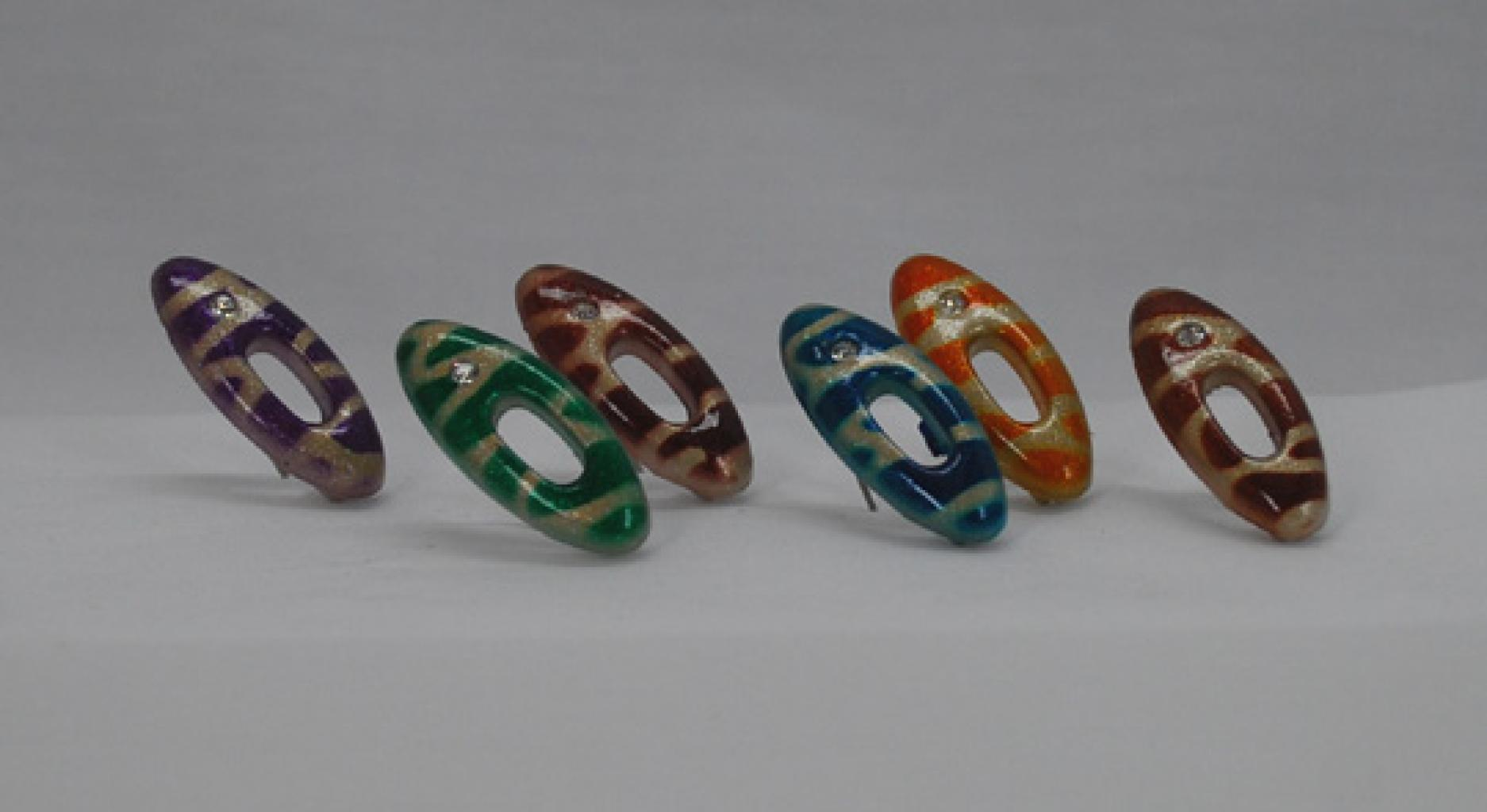 Striped Rhinestone Hijab Pins  ac212