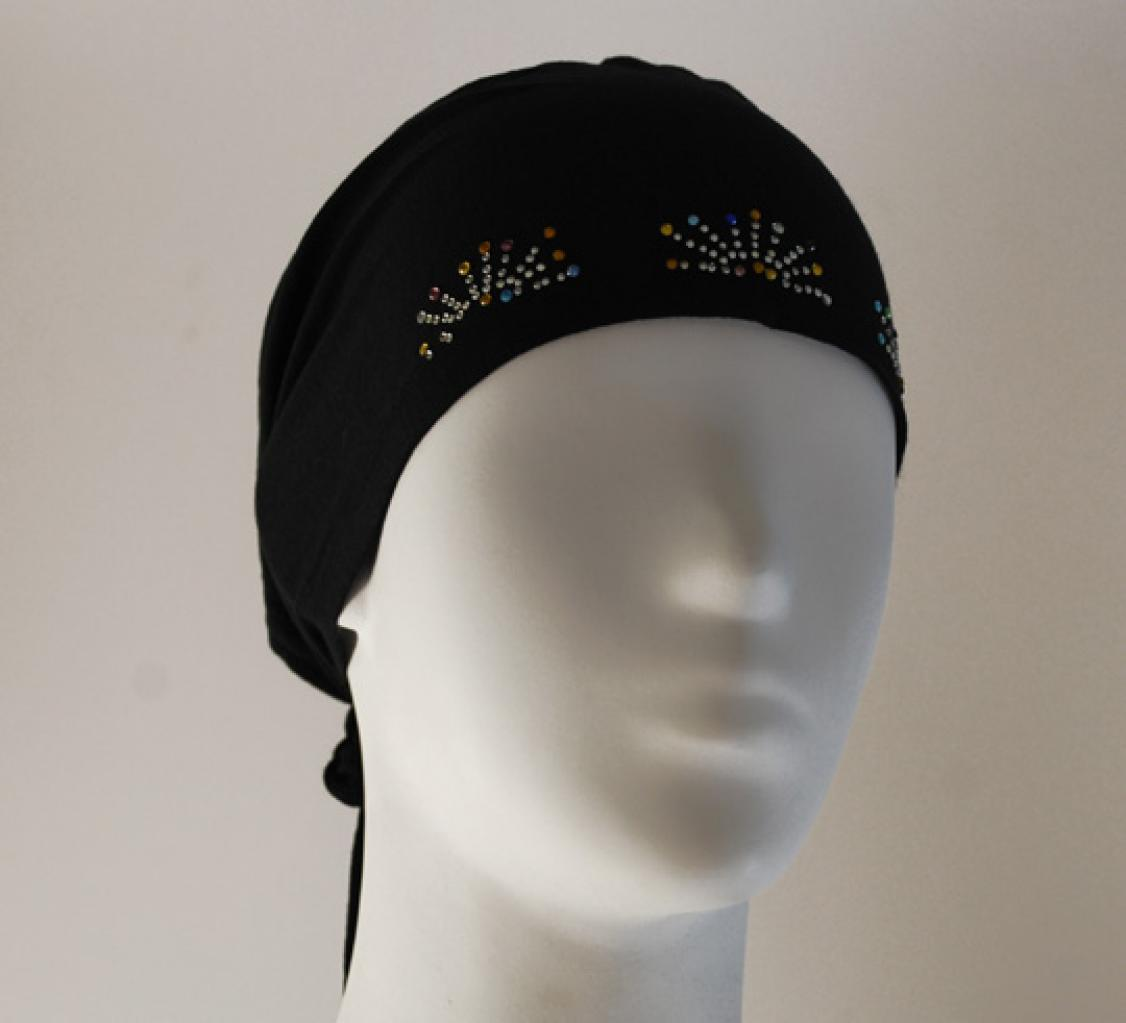 Stretch Beaded Cap Underscarf ac231