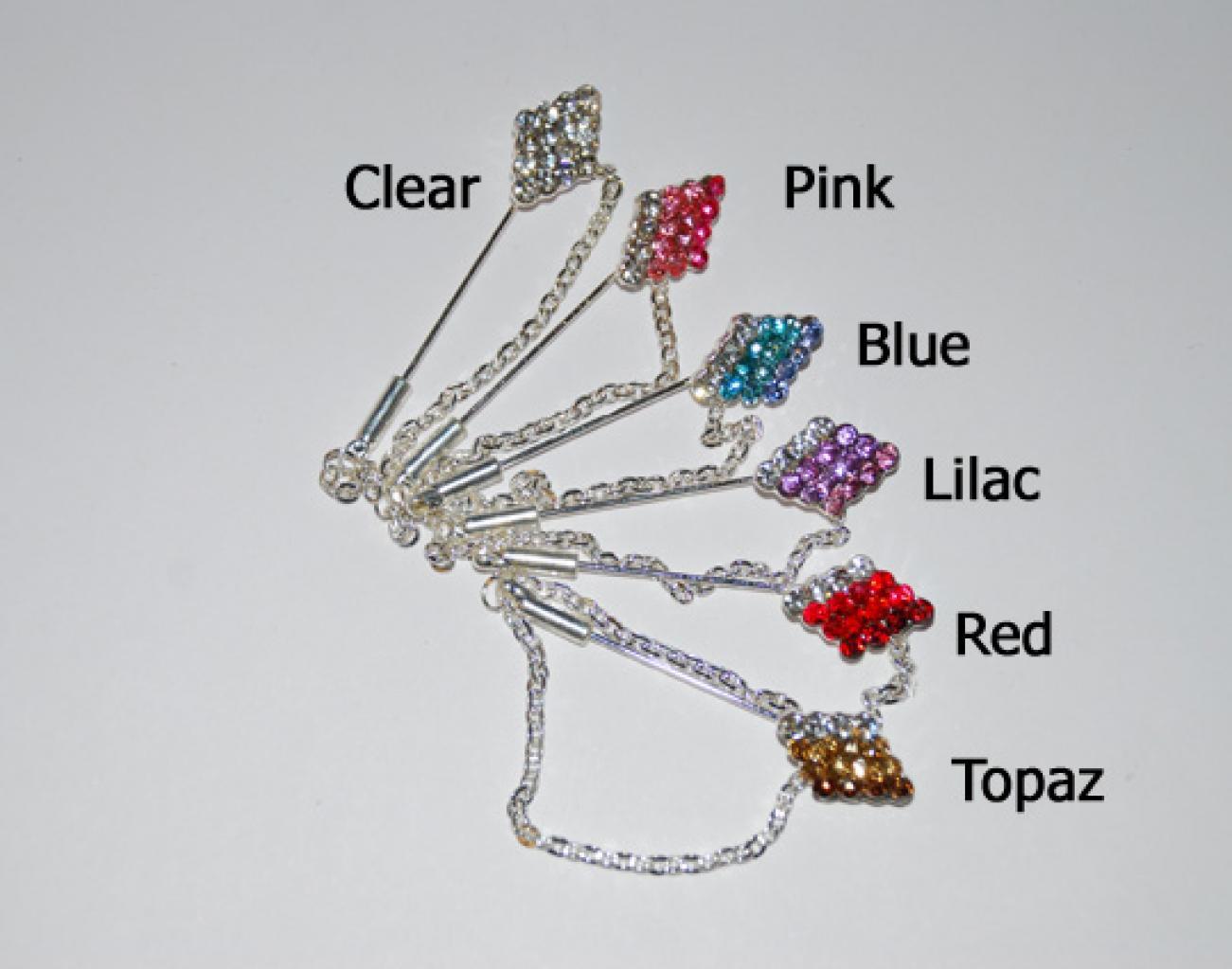 Rhinestone Diamond Stick Hijab Pins ac236
