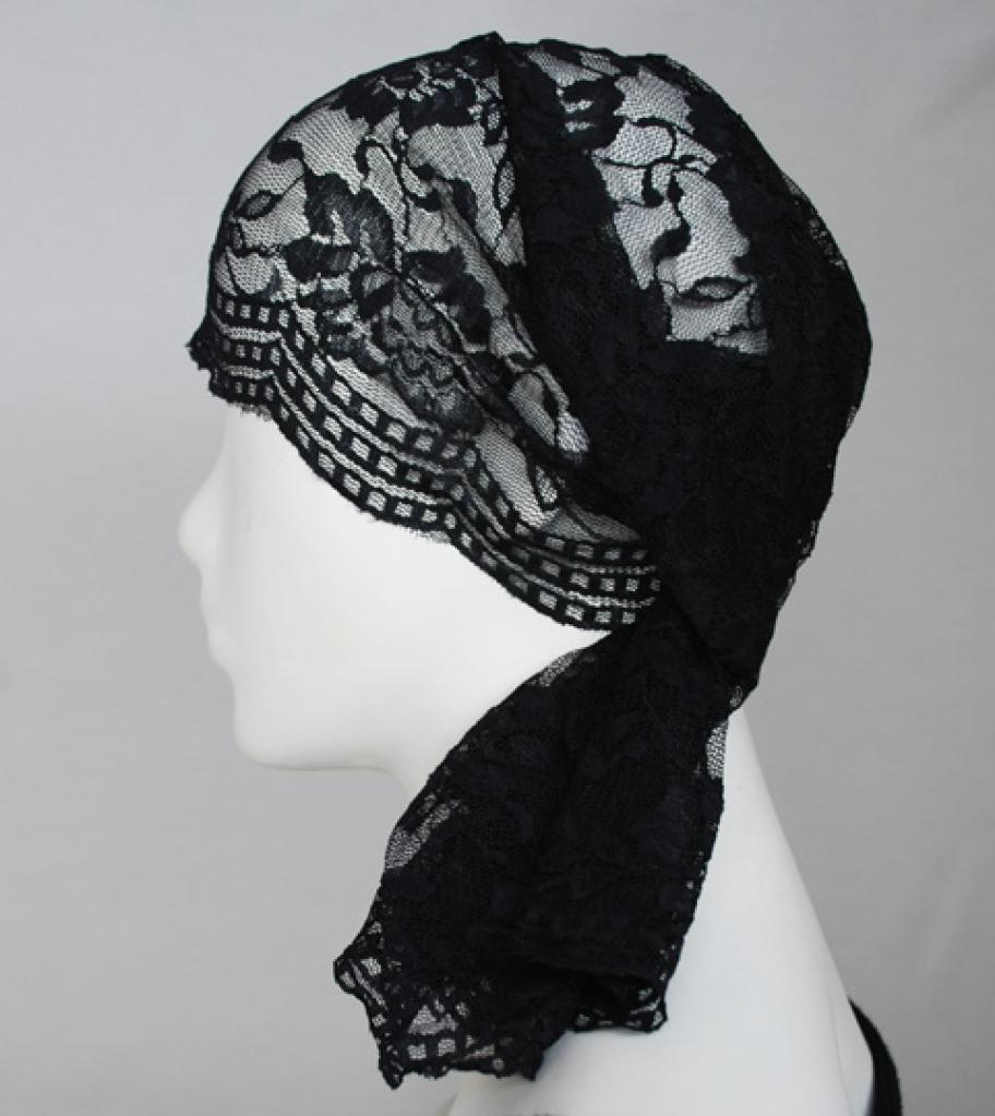 Large Solid Color Lace Underscarf ac248