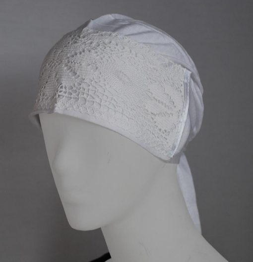 Solid Color Underscarf with Crochet Trim ac249