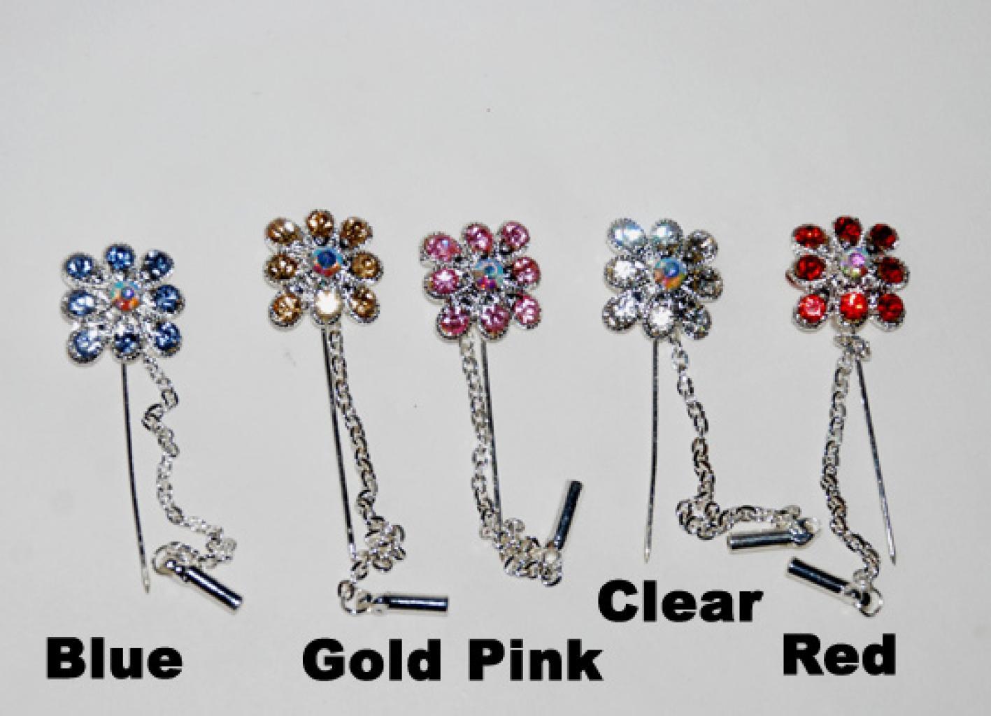 Rhinestone Stick Hijab Pins  ac256