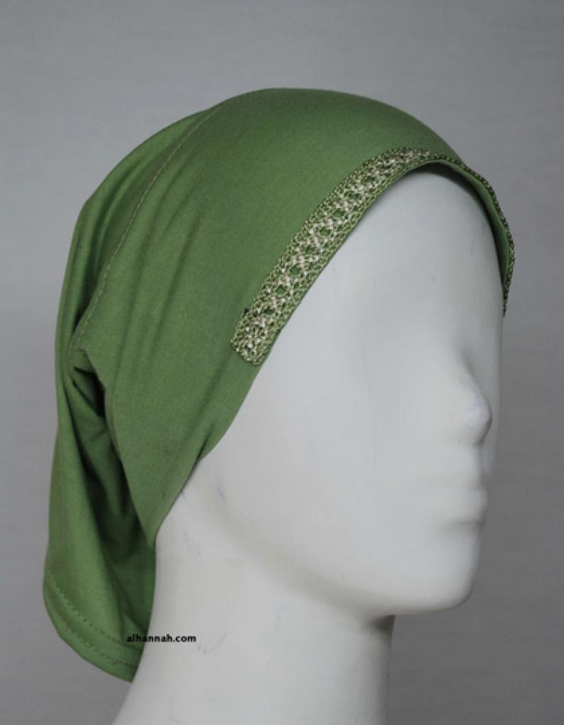 Solid Color Underscarf with Crochet Trim ac272