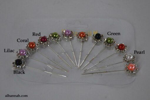 Rhinestone Stick Hijab Pins  ac292
