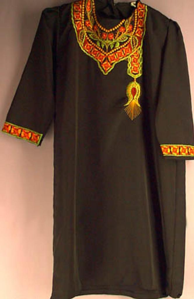 Smaller Girls embroidered Jordanian Thobe ch117