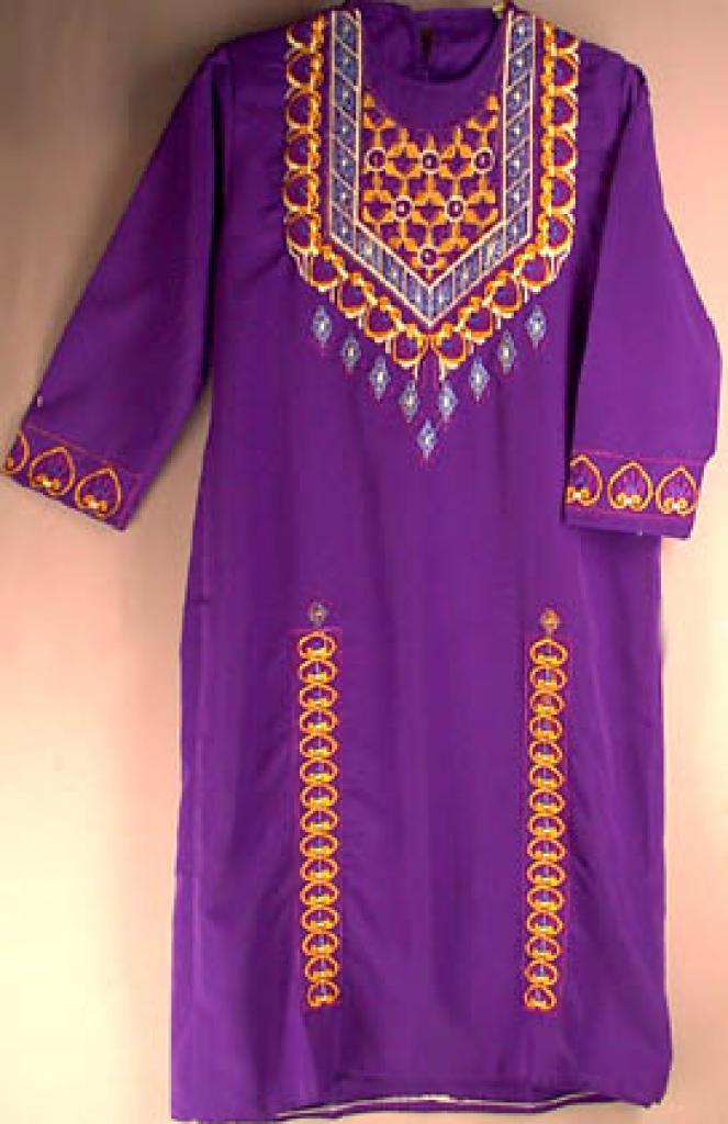Smaller Girls embroidered Jordanian Thobe ch118