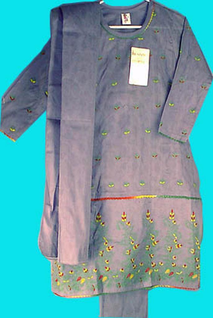 Girls Blue/Gray Salwar Kameez ch125