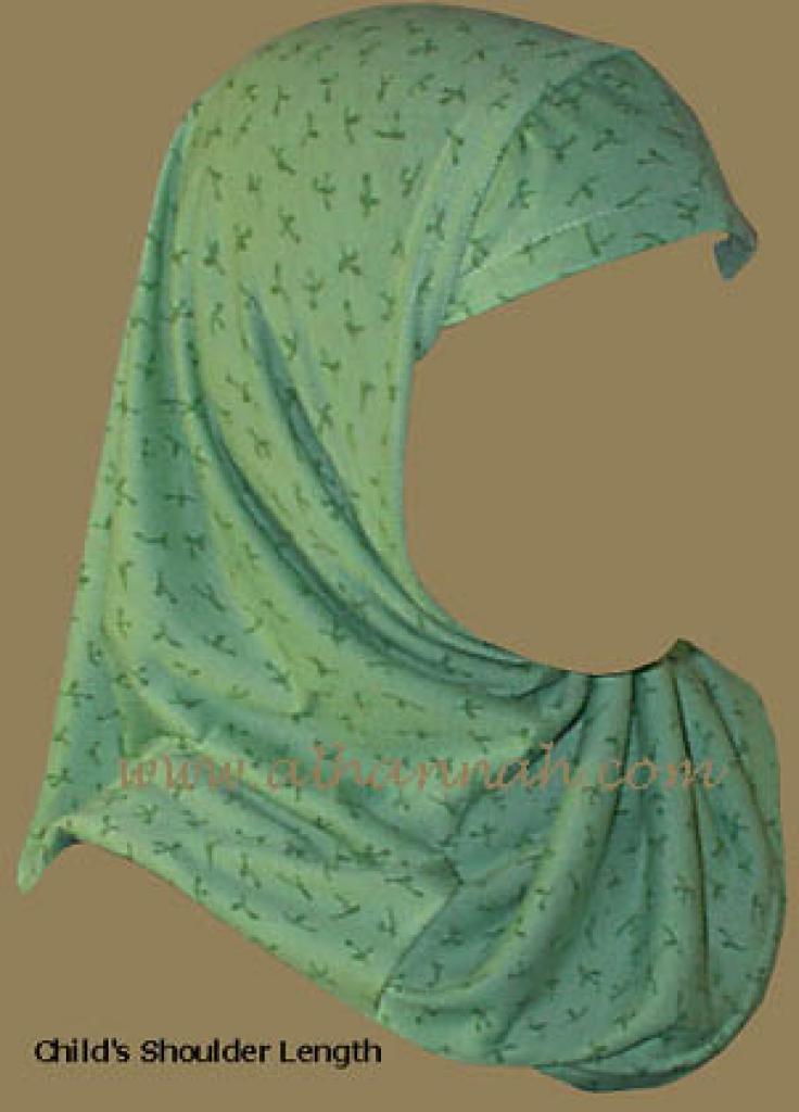 Girls Floral Print Al Amira Hijab ch200