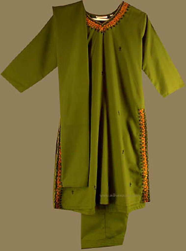 Traditional Girl's Embroidered Salwar Kameez   ch310