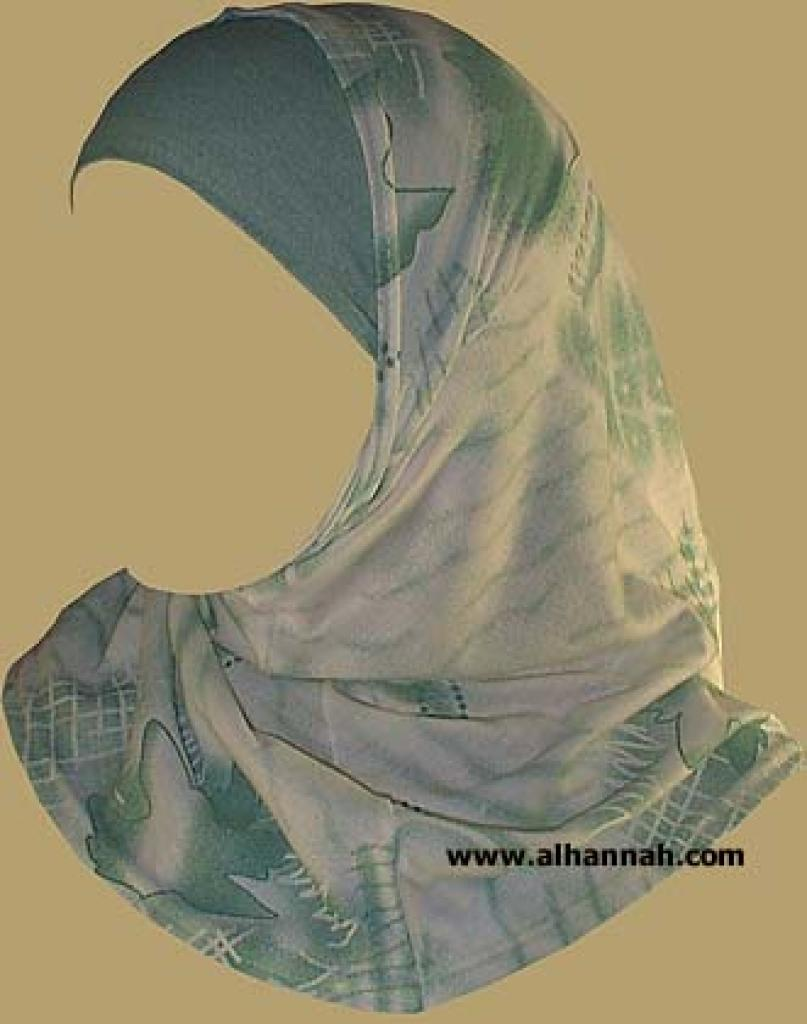 Girl's Printed Two Piece Hijab ch330